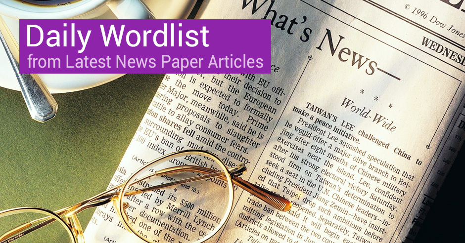 Topper's Study: Daily Wordlist from Newspapers