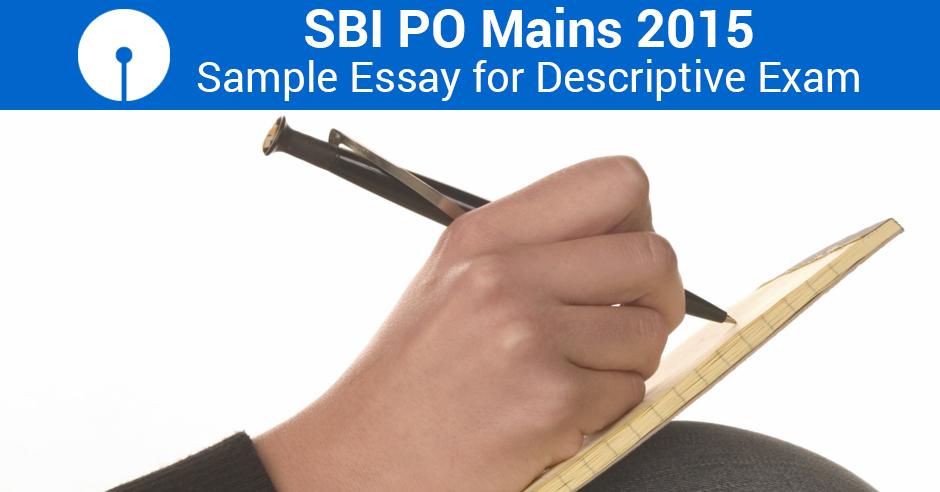 Descriptive essays bank po exams