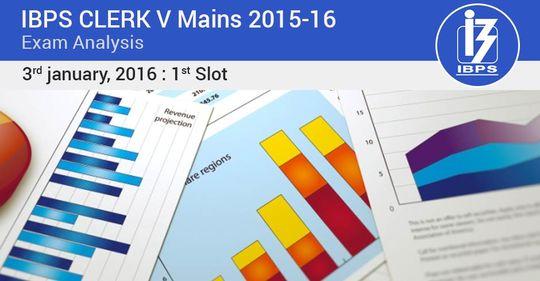 IBPS Clerk Main 2015-16 Exam Analysis – 3rd January (1st slot)