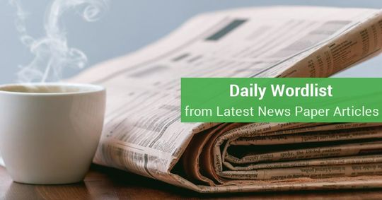 Daily Word-list from Newspapers (16-02-16)